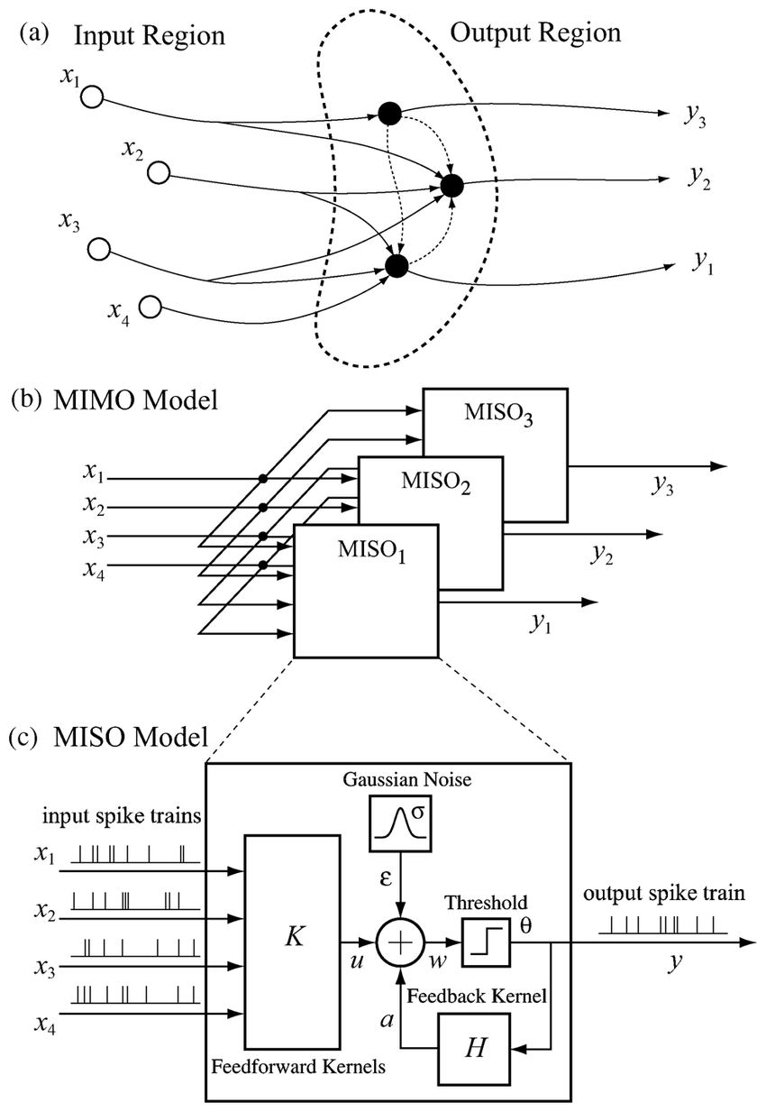 MIMO model for population neural dynamics. (a) Schematic