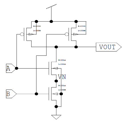 Two input NAND Gate. Basic Two input NAND gate: Figure 3
