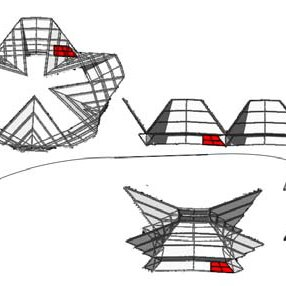 Folding phases of an assembly. a) The spherical links