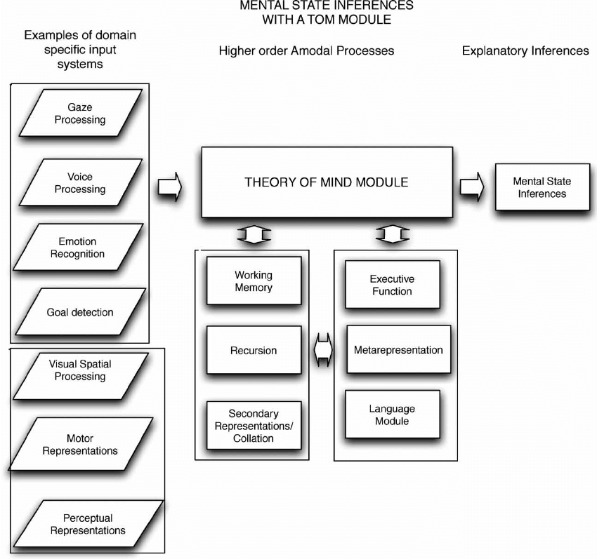 Mental state inferences with a ToM module. Architecture