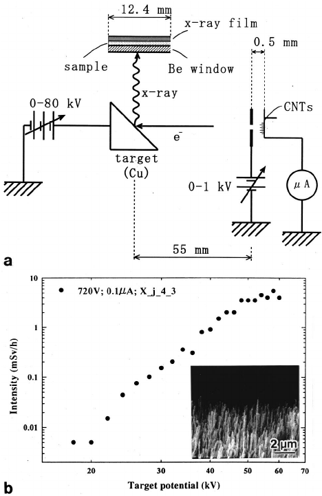 X-ray images of a LSI circuit recorded in the FE, ͑ a ͒