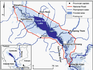 2 The map of the Tonle Sap Lake area, showing the private