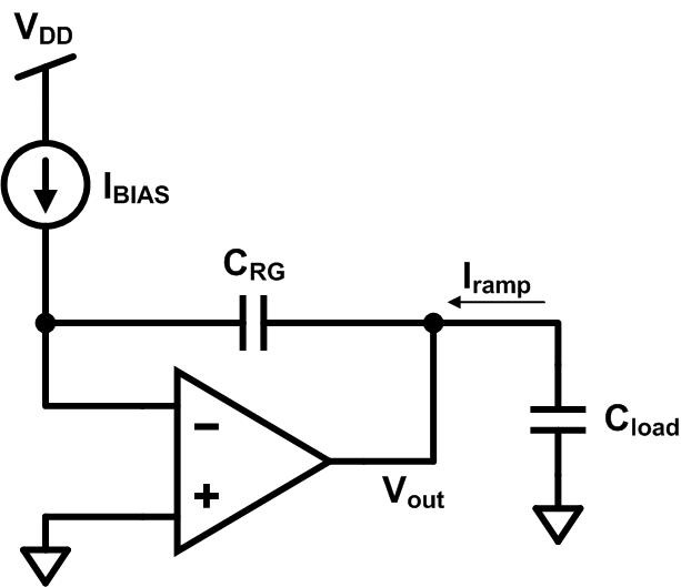Voltage ramp generator concept current required to charge