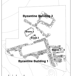 plan of byzantine archaeological remains in trench ii  [ 850 x 1176 Pixel ]