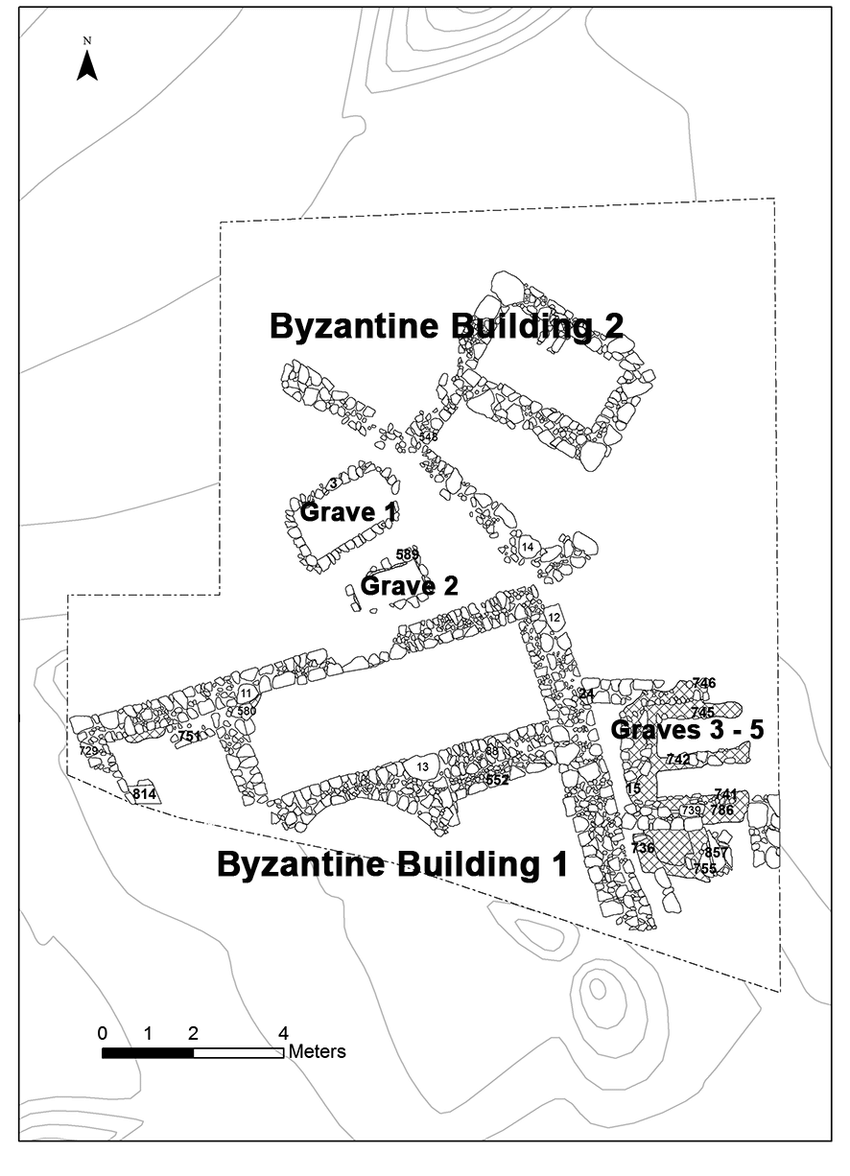 medium resolution of plan of byzantine archaeological remains in trench ii