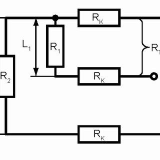 The schematic arrangement of electric resistance