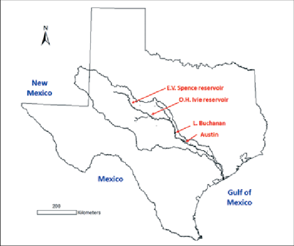 The Colorado River watershed in New Mexico and Texas