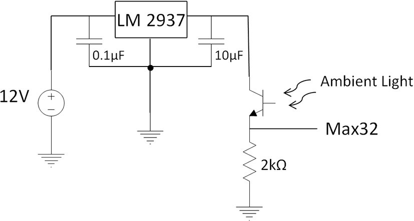 Simplified schematic showing excitation voltage applied to