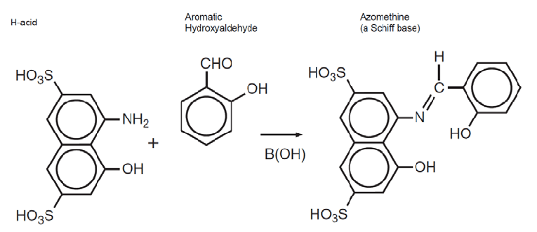 A chemical reaction used in Azomethine-H method of boron