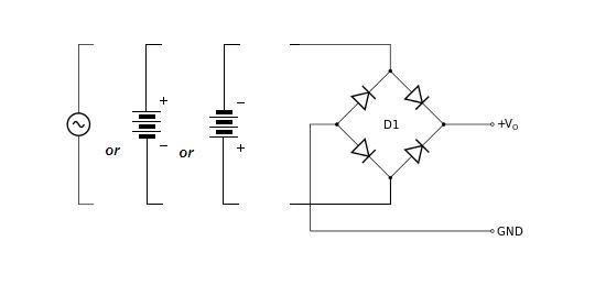 How to protects electronic circuit from reverse polarity?
