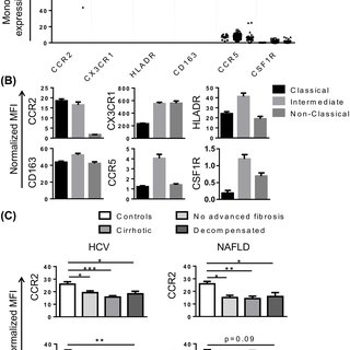 Alterations in chemokine receptor expression and adhesion