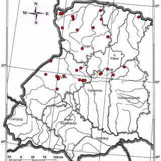 Map of distribution, Thymus serpyllum L. (Source