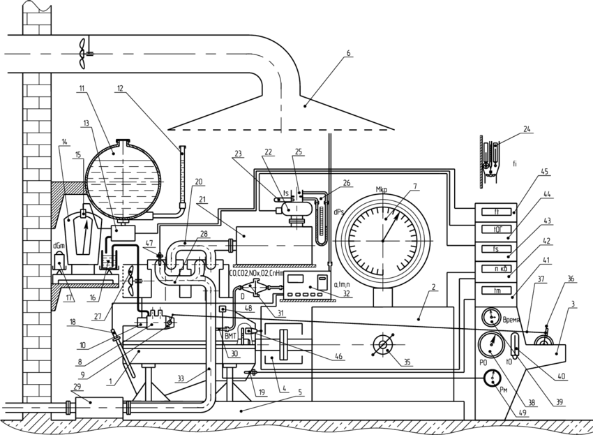1 – Scheme of Engine Test Bench: 1