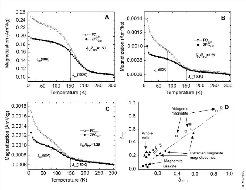 FC (2.5T) /ZFC (2.5T) remanent magnetization curves