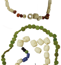 beads belonging to the inventory of grave 7 at hunedoara timi an  [ 593 x 1429 Pixel ]
