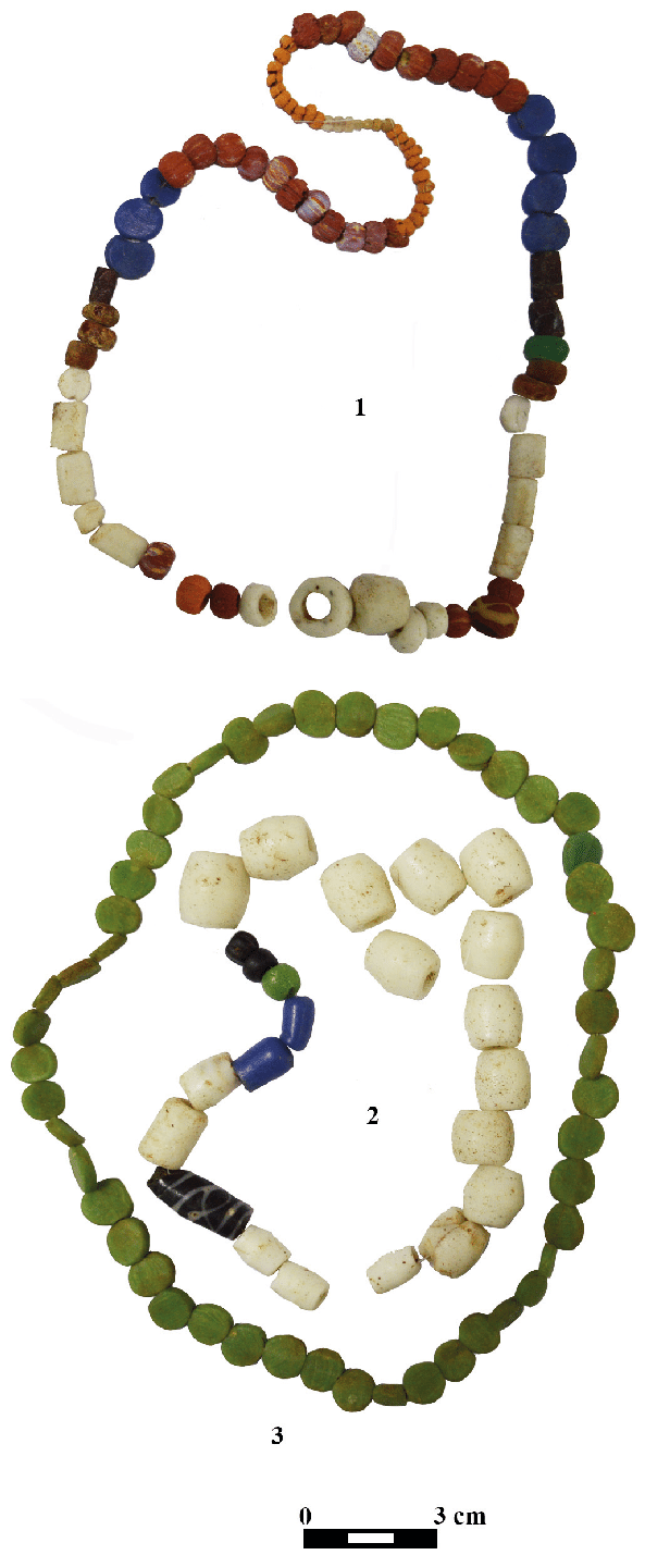 hight resolution of beads belonging to the inventory of grave 7 at hunedoara timi an