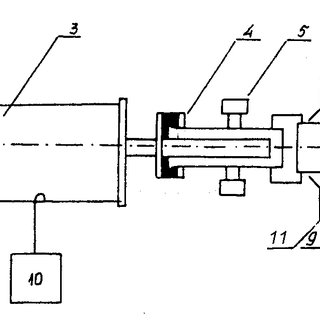 Scheme of the installation. (1) proton injector; (2