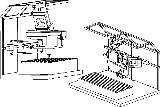 Vertical and horizontal milling machine concepts