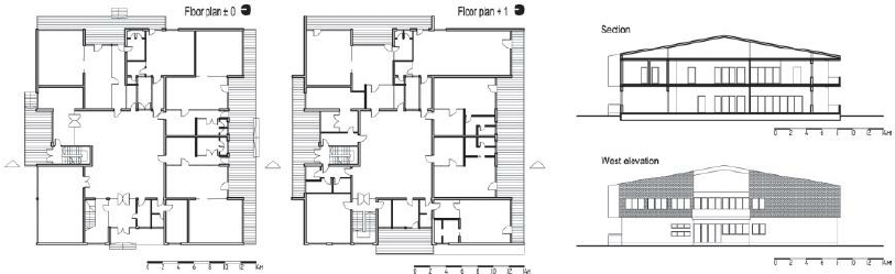 architecture section diagram 1997 ford f150 fuse panel floor plan and elevation of the bajka kindergarten download scientific