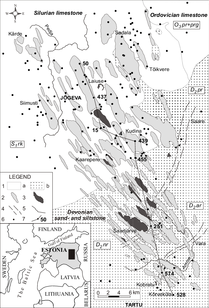 Geological sketch map of the study area