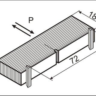 Experimental setup No. 1: 1) detonator; 2) explosive; 3