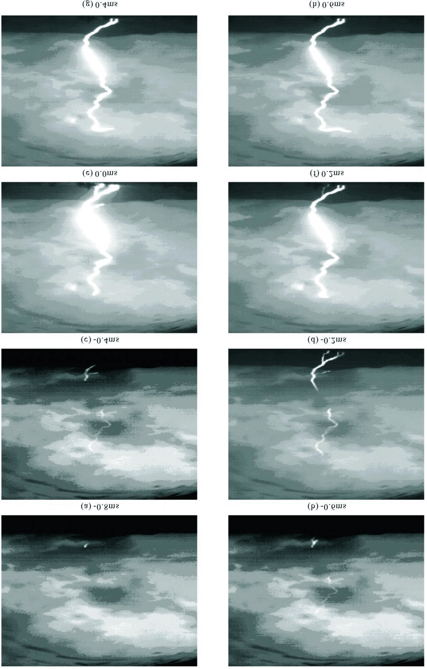 medium resolution of high speed camera records in the initial stage of an artificially triggered lightning occurred on june