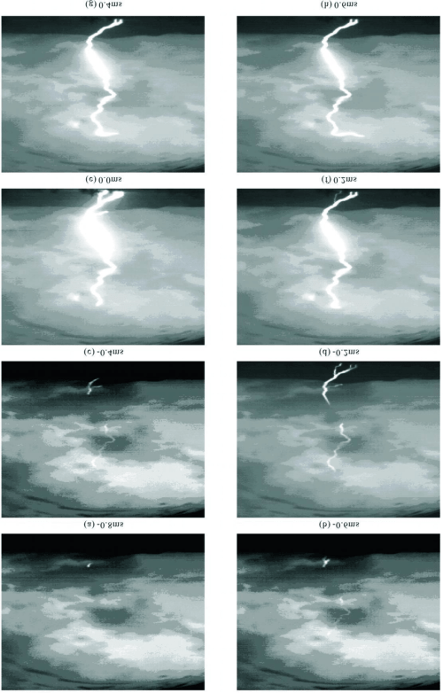 small resolution of high speed camera records in the initial stage of an artificially triggered lightning occurred on june