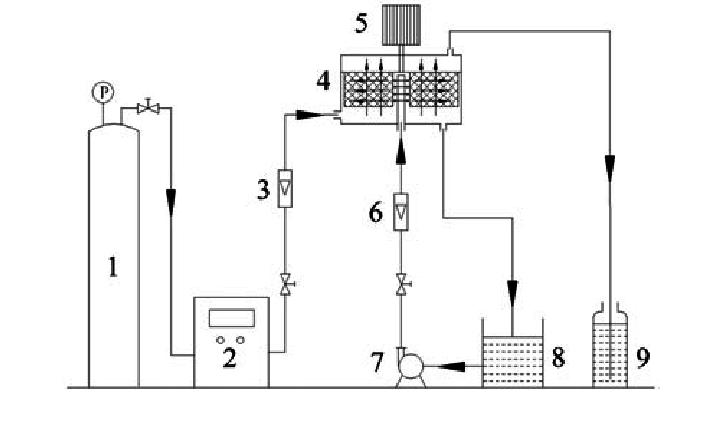 Experiment process flow diagram. Notes: (1) Oxygen bottle