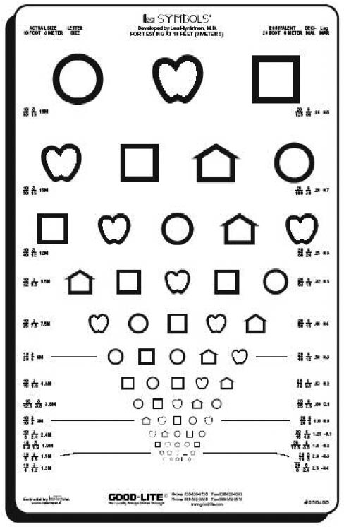 Lea Symbols Chart. Courtesy of Good-Lite Company, Elgin