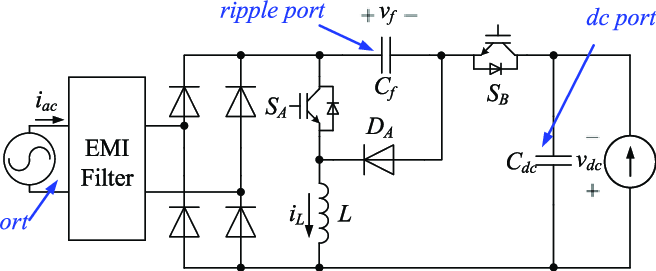 Circuit topologies of a two-switch buck-boost PFC