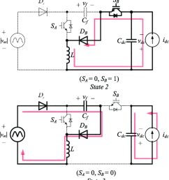 equivalent circuits of the two switch buck boost pfc rectifier during state 1  [ 612 x 1379 Pixel ]