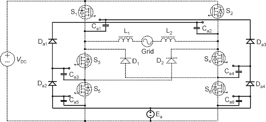 Circuit diagram of the bootstrap power supply for the