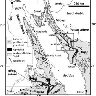(PDF) Geochronology in the southern Midyan terrane: a