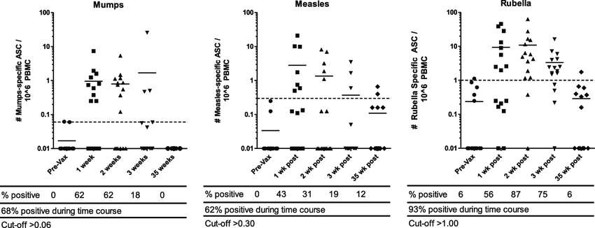 Time course of ASC response following third-dose MMR