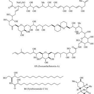 Molecular structures of some common mycosporine-like amino