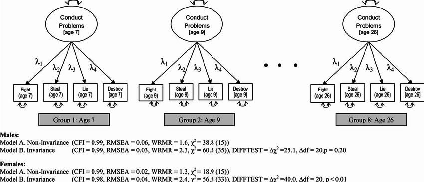 Multiple-group confirmatory factor analysis, testing for