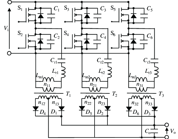 Conventional three-phase LLC resonant converter