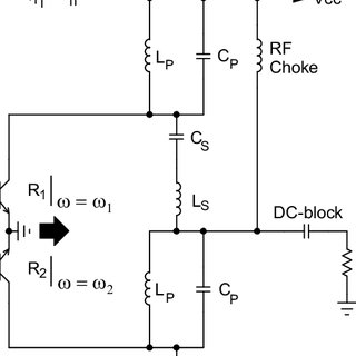 Dual-band lumped LC-balun as push-pull type power
