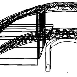 Sketch of the conceptual design for the wire frame of the