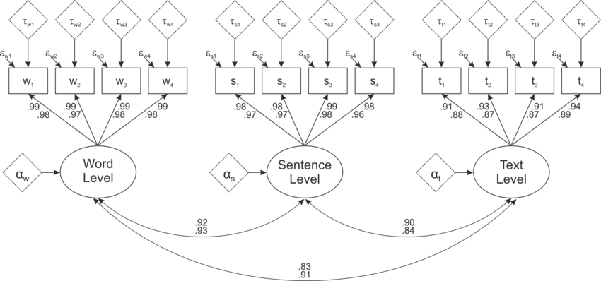 Structural Equation Model of the Measurement Invariance