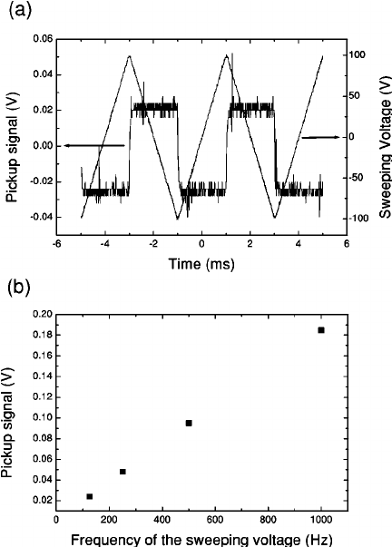 ͑ a ͒ Differential pickup signal across a 1 k ⍀ shunt