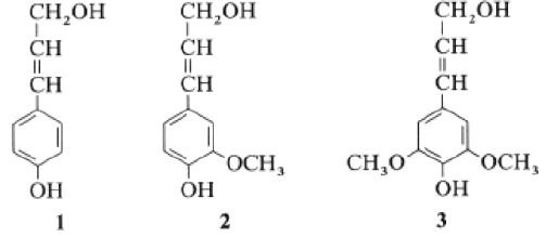 5 P-coumaryl- , coniferyl- and sinapyl alcohol: dominant