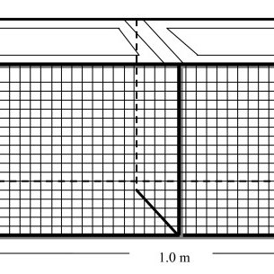 Schematic diagram of a snail-raising cage. The frame of
