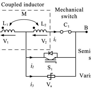 (PDF) Hybrid DC circuit breaker with coupled inductor for