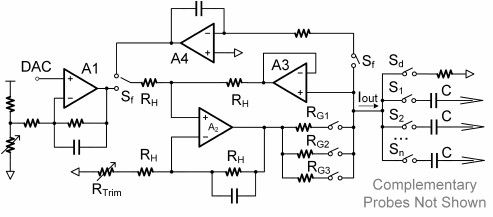 Circuit schematic for the high compliance voltage current