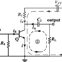 Classical circuit diagram of an avalanche transistor