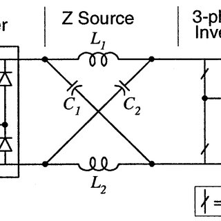 Z-source converter structure using the antiparallel