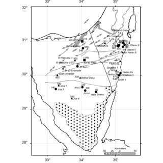 Generalized stratigraphic chart for Sinai and the Negev