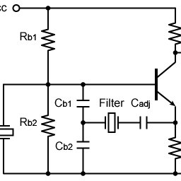 Colpitts oscillation circuit with piezoelectric filter