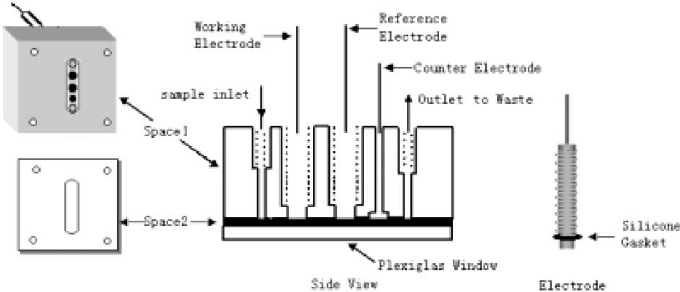 Schematic diagram of the ECL flow system. FEC: flow